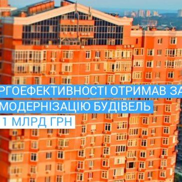 Державний фонд отримав заявок на енергомодернізацію будівель на понад 1 млрд грн